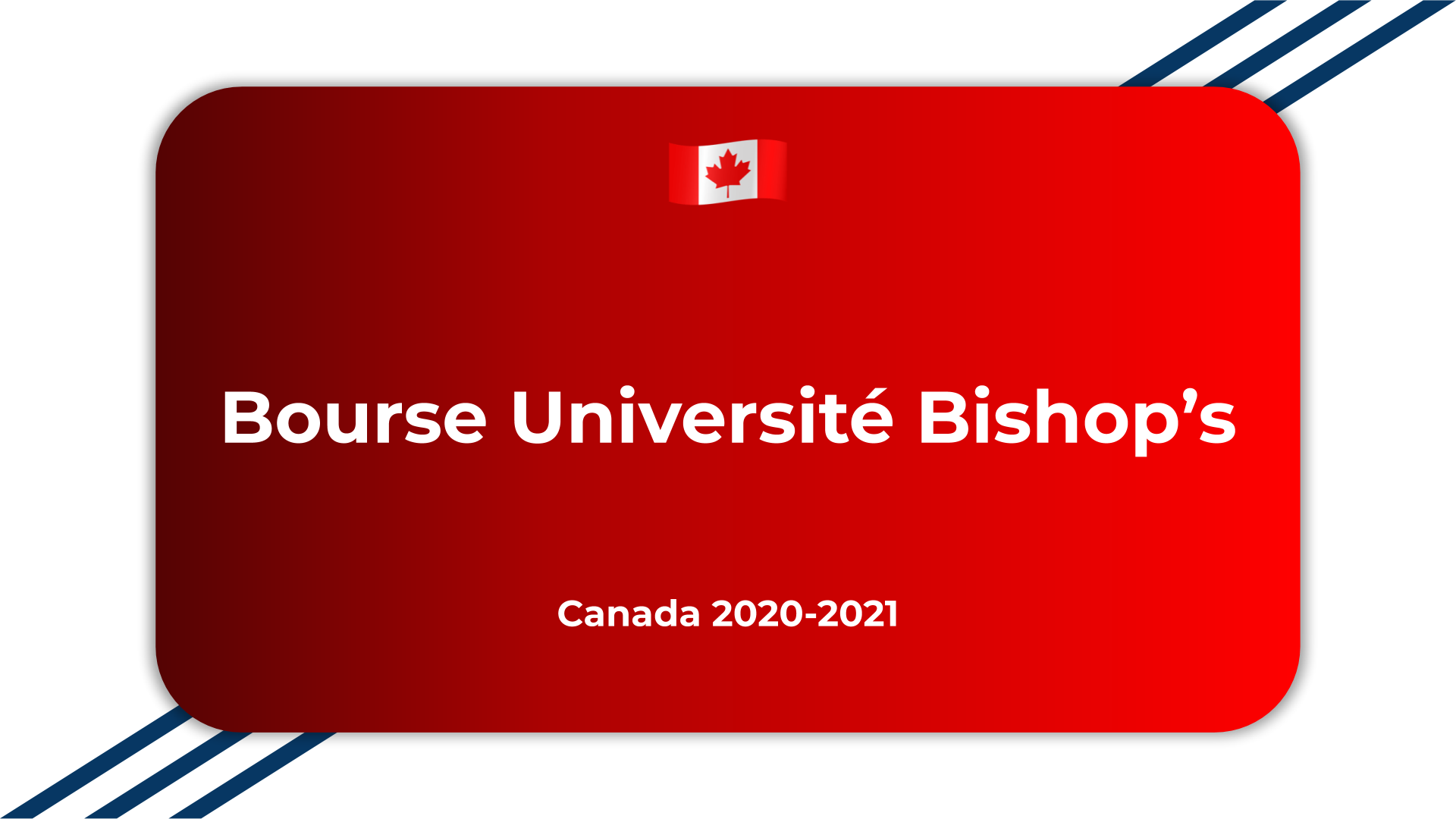 Bourse Université Bishop's Canada 2020
